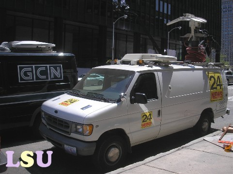 Gotham City News and Media Vans
