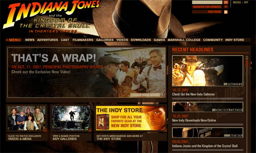 Indiana Jones Official Site