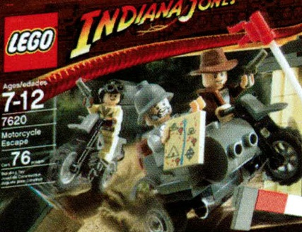 Indy 4 Lego Motorcycle Chase
