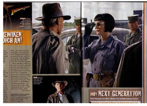 Indiana Jones and Cate Blanchett