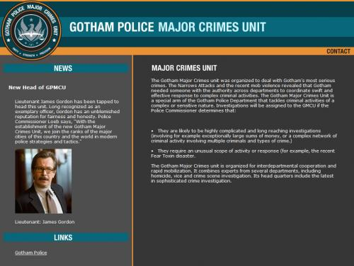 Gotham Police Major Crimes Unit