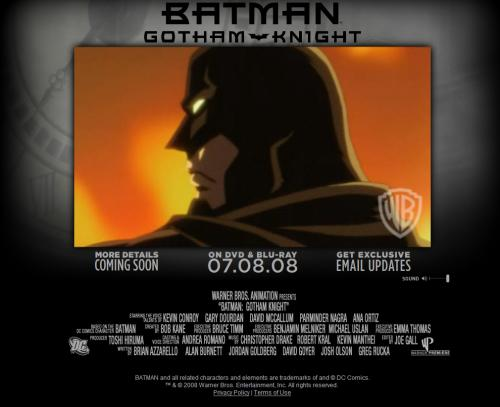 Gotham Knight website