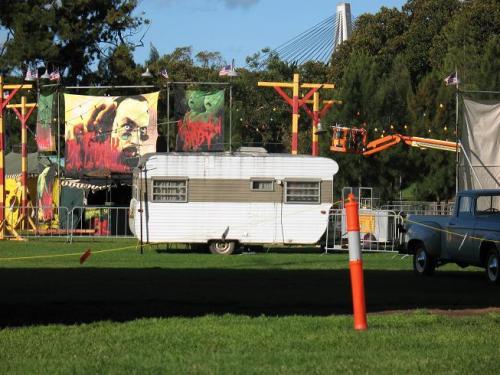 Wolverine set in Federal Park Sydney