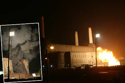 Battersea Power Station Explosion for The Dark Knight